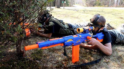 Nerf War Game: Couple S.W.A.T Nerf Guns Mercenary Professional Pretty Gi.