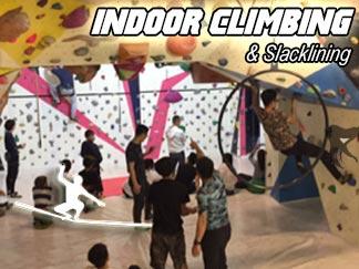 Indoor Climbing & Slacklining